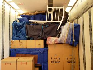mountain movers truck packed