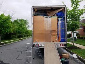 truck packed for moving pa